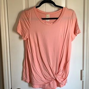 Knot blush top